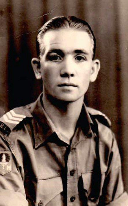 Fokke Dijkstra als jonge militair