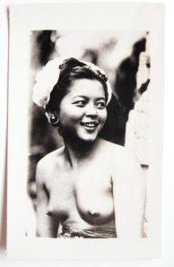 Jonge vrouw op Bali