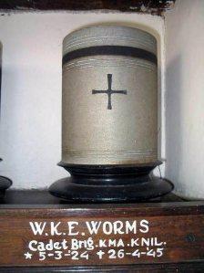 Urn van Wouter Worms, te Menteng Pulo, Jakarta