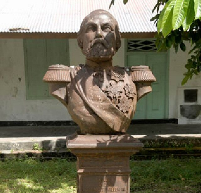 Borstbeeld Koning Willem III op Banda (2012)