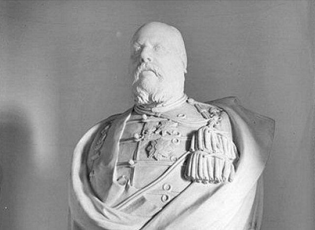 Borstbeeld van Koning Willem III, bewaard te paleis Soestdijk.