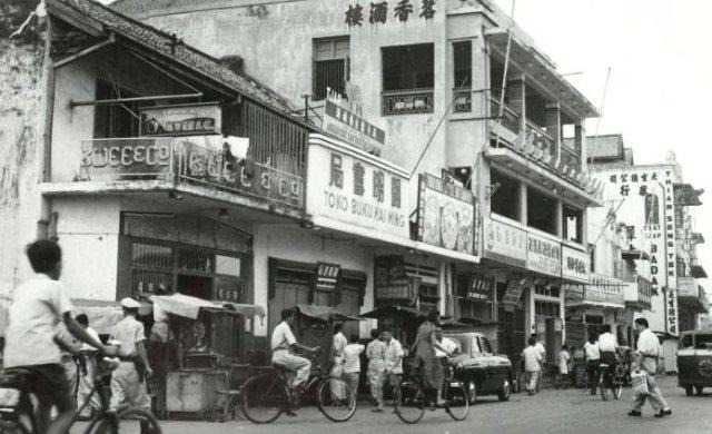 Chinese wijk Glodok, benedenstad Djakarta, jaren ´50.