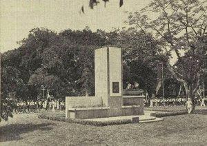 Onthulling monument Koningin Emma
