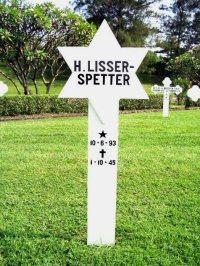 Het graf van mw. H. Lisser-Spetter, ereveld Kalibanteng, Semarang