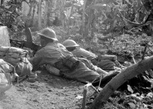 Britse soldaten in gevecht met Indonesiërs