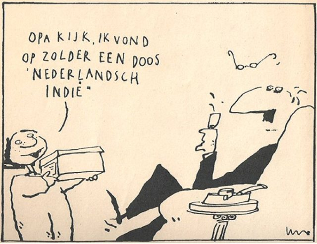 Illustratie Len Munnik in dagblad Trouw, 22 juni 1994.