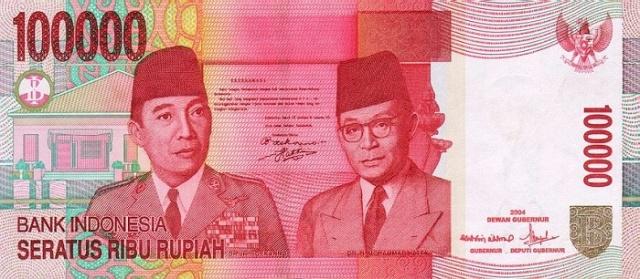 100 duizend Rupiah biljet