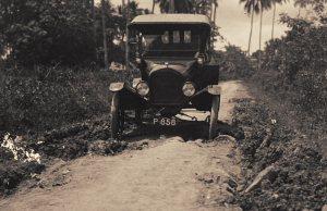 Auto op weg ten zuiden van Banjoewangi