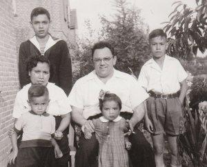 Familie Merckx-Van de Werff met kinderen