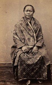 Njai Paul te Djokjakarta. Ca. 1860.