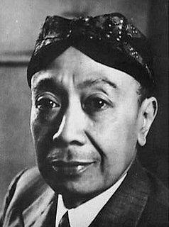 Raden Adipati Ario Sujono, minister zonder portefeuille in Kabinet Geerbrandy, 1942-1943.