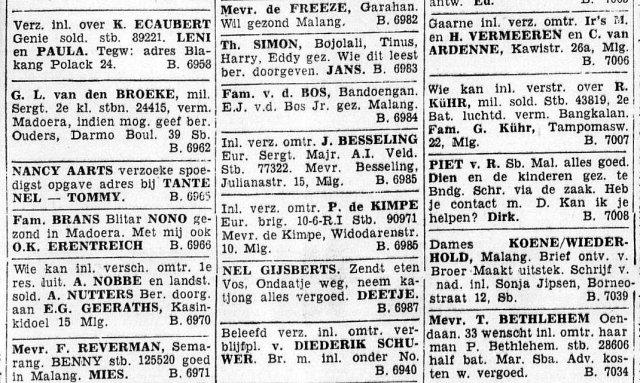 'Blikvangers' uit het Soerabaijasch Handelsblad, 1942.