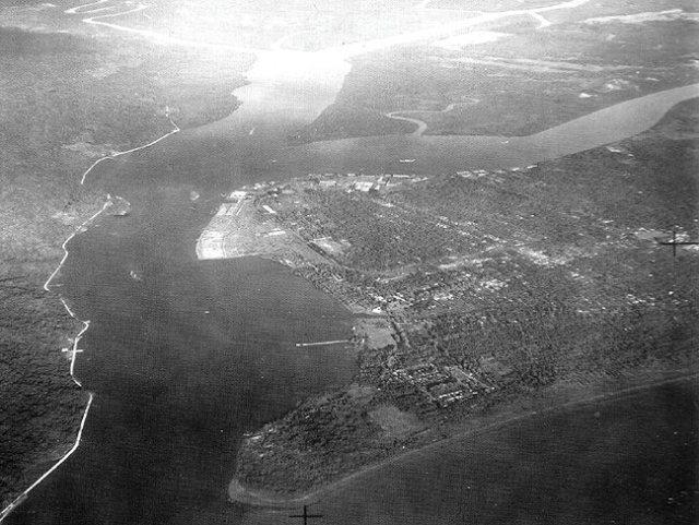 Tjilatjap en omgeving, 1945.