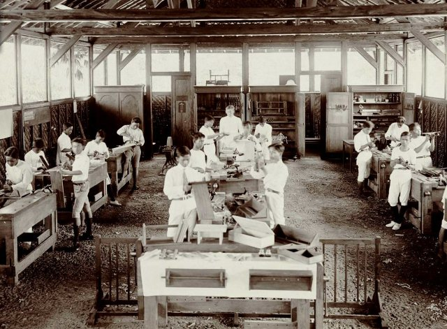Landbouwschool, techniek