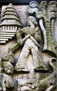 Detail monument Indië-Nederland