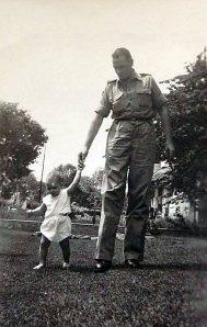 Sjoert Kuikenga met zijn dochter