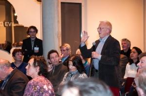 P.J. Drooglever tijdens het debat