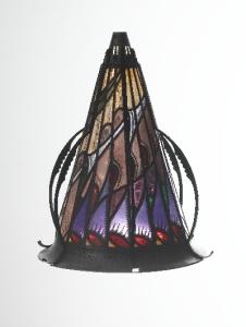Glas-in-loodlamp. Uitvoering Atelier Willem Bogtman, jaren '20.