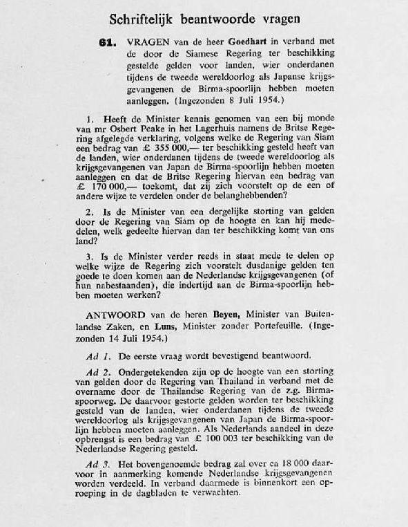 Verslag van de Tweede Kamer, 1954