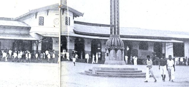 Lamp, ontwerp van De Roo, voor het station, Bandoeng, 1926.