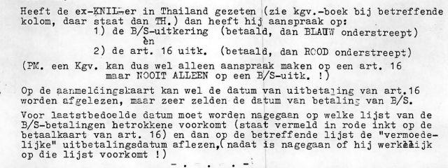 Ambtelijke aanwijzingen voor uitvoering Birma-Siamregeling.