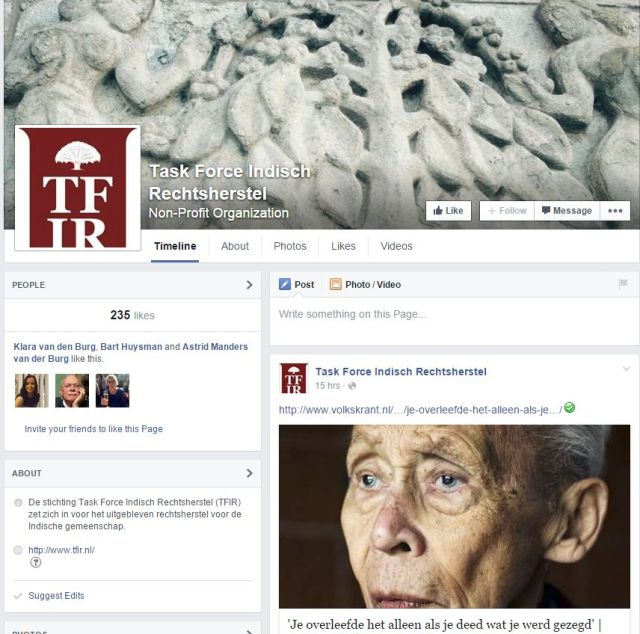 Facebook pagina TFIR