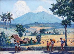Leo Eland: sawah landschap
