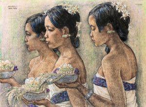 Rudolf Bonnet: Melasti, Bali, 1977