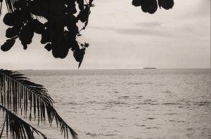 Gezicht op de eilanden voor de kust van West-Sumatra