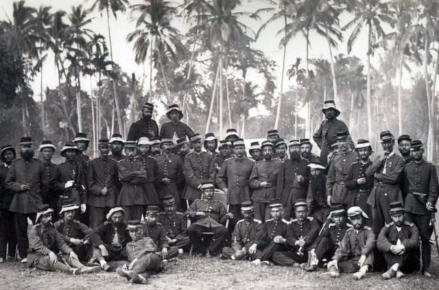 KNIL-officieren in Atjeh