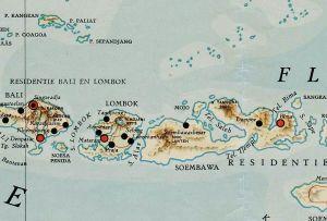 Tambora, kaart