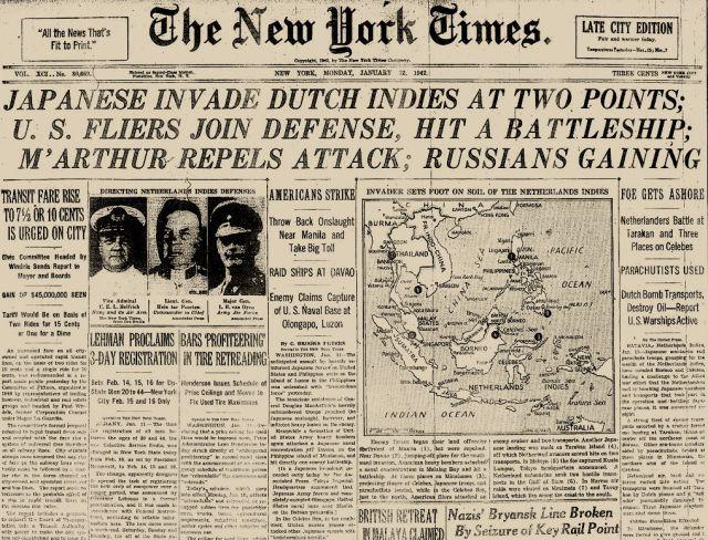 New York Times, 12 januari 1942