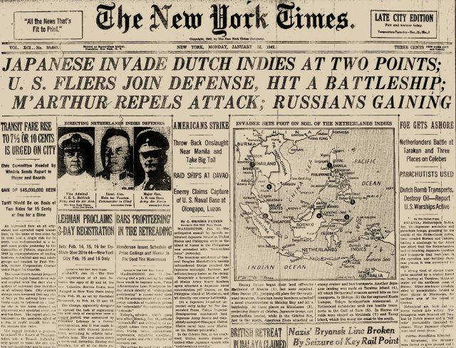 New York Times, 12 januari 1942