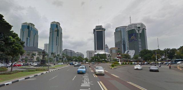 Jalan Medan Merdeka Selatan (Koningsplein Zuid), gezien in westelijke richting