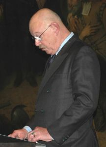 Willem Remmelink, tijdens zijn lezing