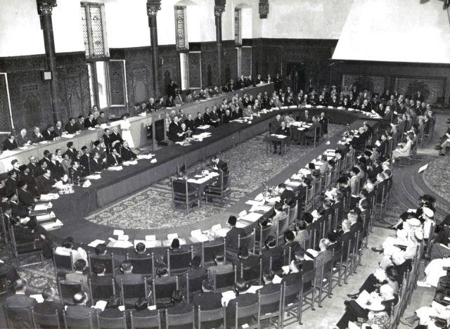 Openingszitting Ronde Tafel Conferentie, Ridderzaal, Den Haag, 1949