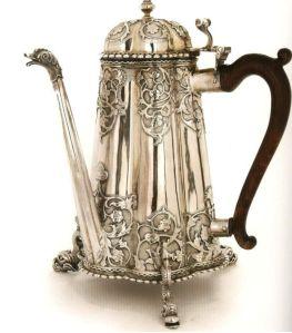 Zilveren koffiepot, Amsterdam, 1685