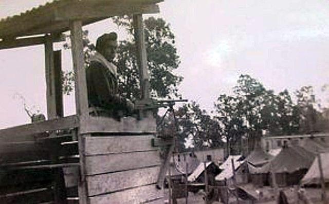 Camp Victory, wachttoren, 1946.