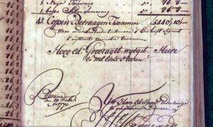 Pagina uit de VOC-archieven