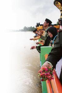 Herdenking van de slachtpartij in Rengat
