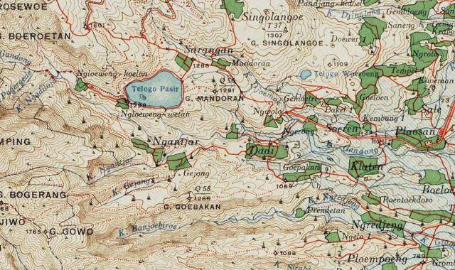 Sarangan, ten westen van Plaosan