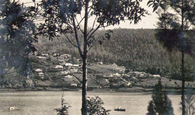 Sarangan, vanaf de overkant van het meer
