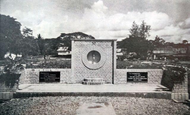Monument voor de slachtoffers van de Japanse periode, Teloekbajoer, 1950.