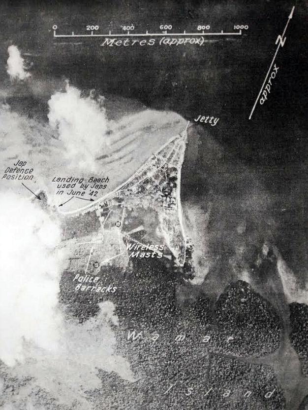 Dobo, gefotografeerd door Geallieerden, in 1944