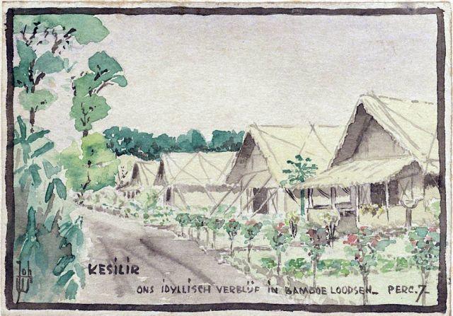 Johan Warmen, Bamboeloodsen in Kesilir, ca. 1942/1943. Museon.