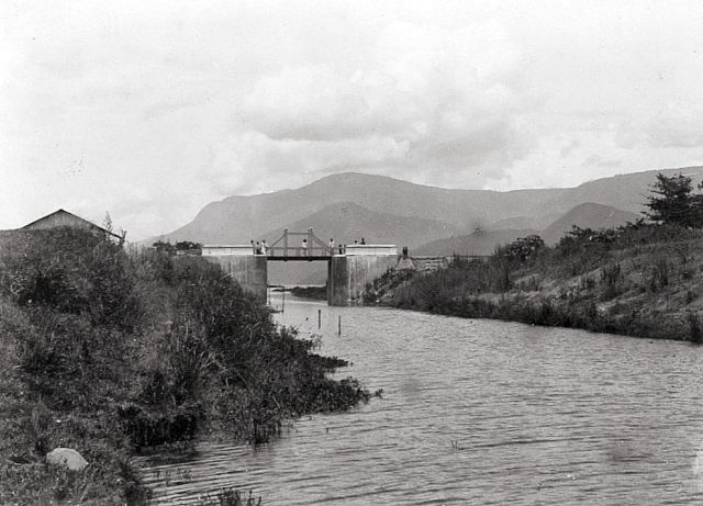Het kanaal in 1917