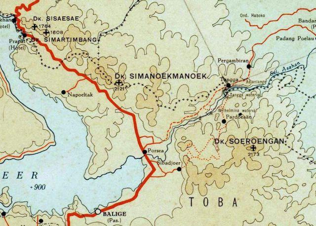 Het ontstaan van de Asahan, in Toba Meer