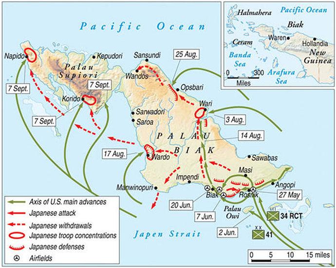 Het eiland Biak