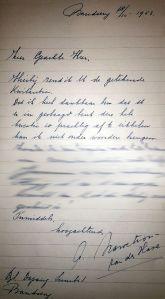 Brief van weduwe aan advocaat Van Rijckevorsel (NA)